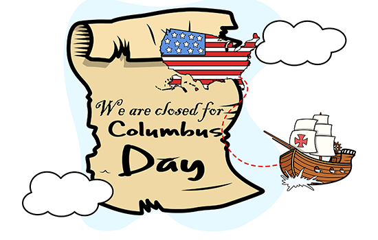 County Government Closed Columbus Day