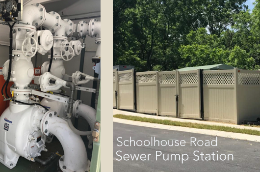 Schoolhouse Road Sanitary Sewer Pumping Station Now in Service