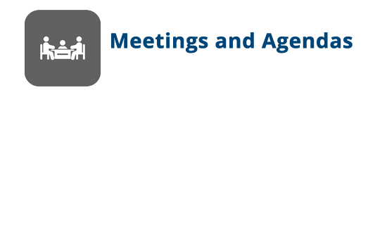 Upcoming Meetings, Agendas, and Public Hearings