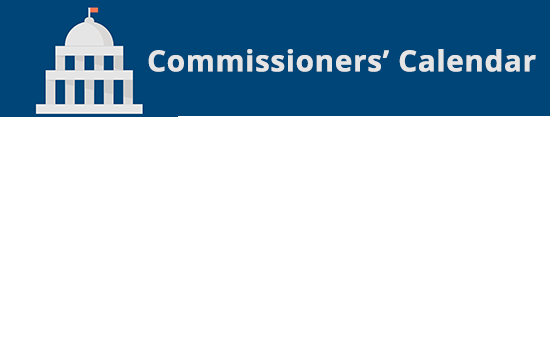 Commissioners' Agenda and Calendar