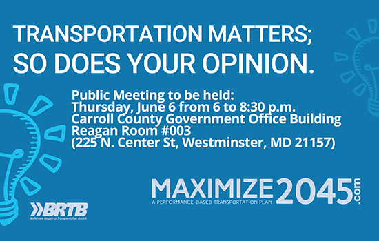 Regional Transportation Plan Public Meeting June 6th