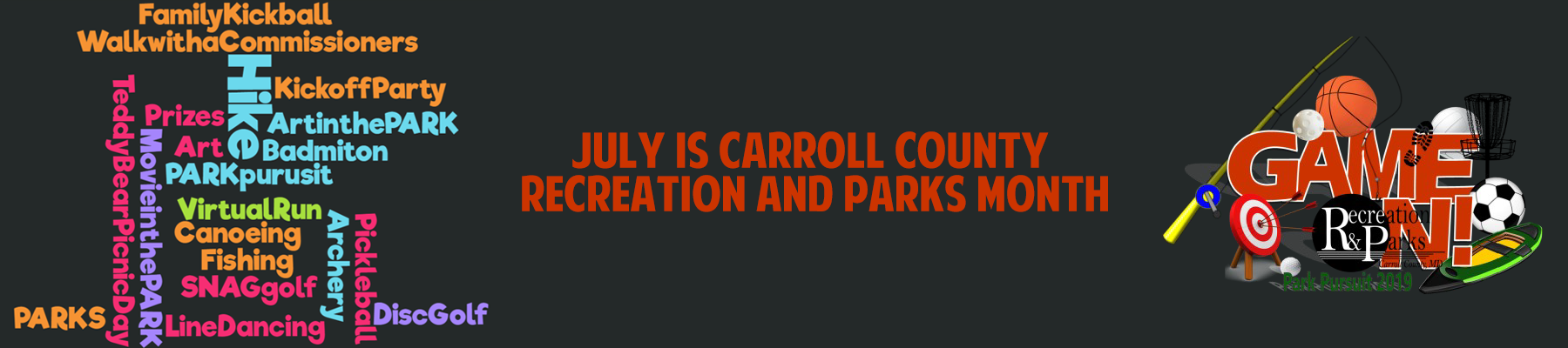 July is Carroll County Recreation and Parks Month