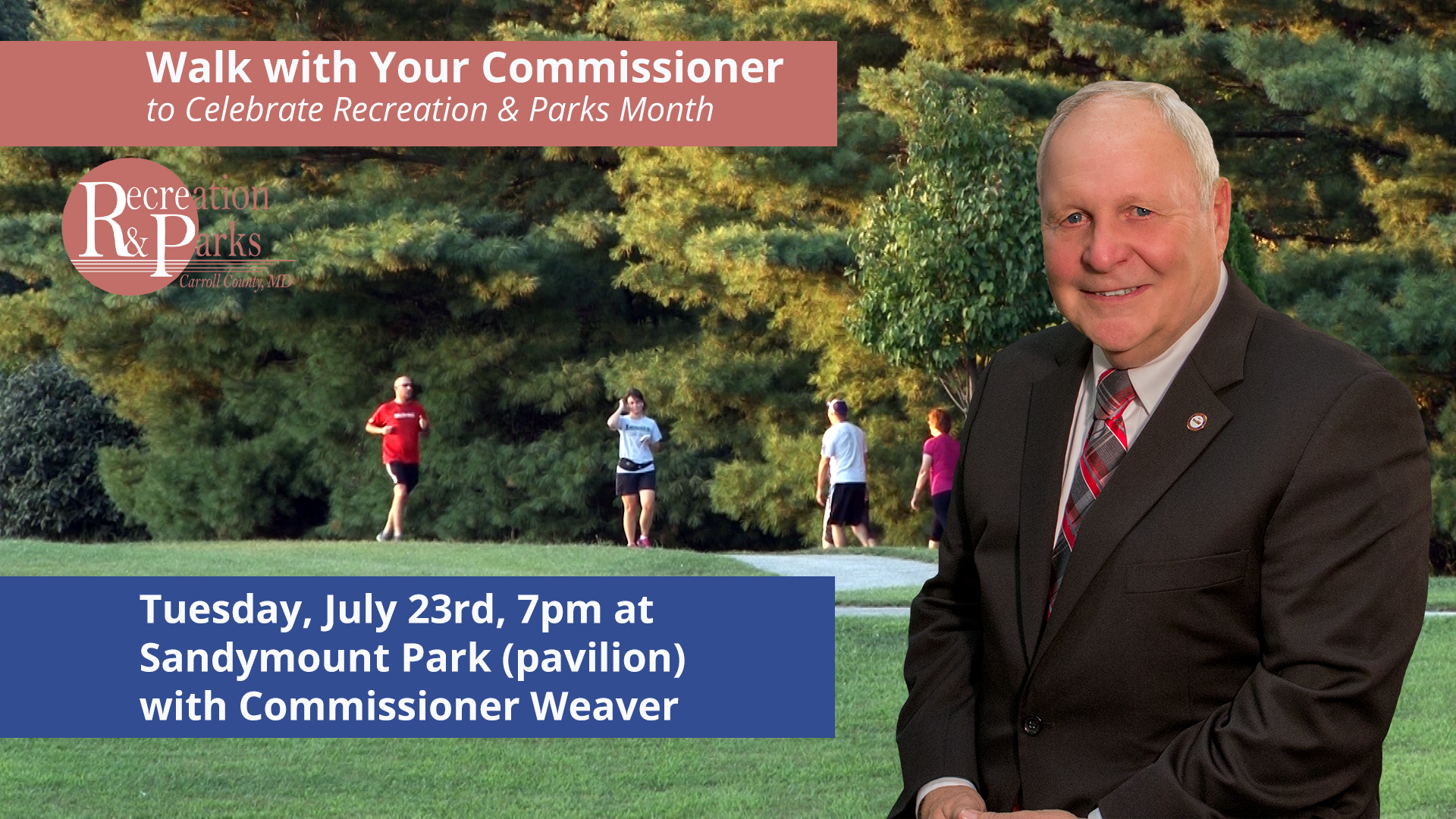 Walk with Commissioner Weaver