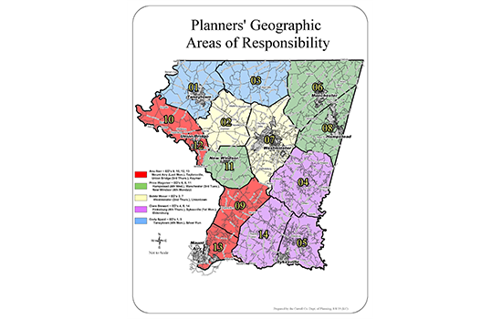 Planners' Geographic Areas of Responsibility